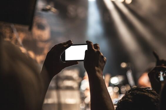 Concert, phone, lights