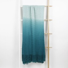 Ombre Throw Blanket - Teal