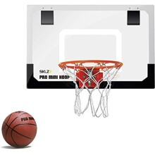 SKLZ Pro Mini Basketball Hoop W/ Ball. 18_x12_ Shatterproof Backboard.