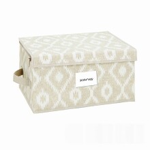 Zippered Storage Box - Medium - Rugby Chevron Gray